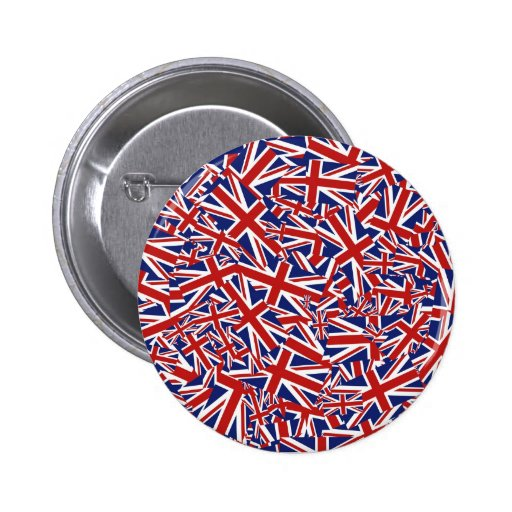 Union Jack Collage Button
