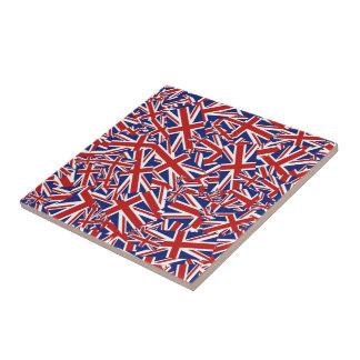 Union Jack Collage Ceramic Tile