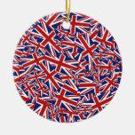 Union Jack Collage Ornaments