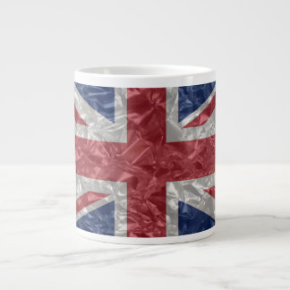 Union Jack - Crinkled 20 Oz Large Ceramic Coffee Mug