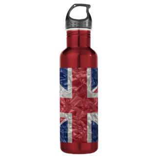 Union Jack - Crinkled 24oz Water Bottle