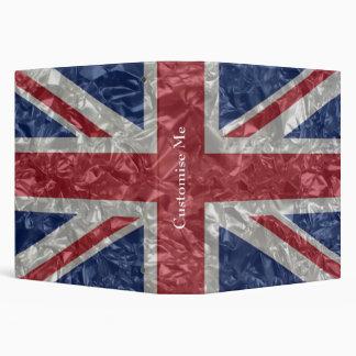 Union Jack - Crinkled 3 Ring Binder