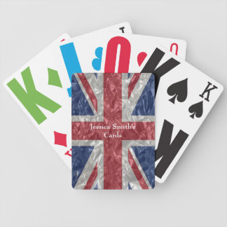 Union Jack - Crinkled Bicycle Playing Cards