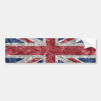 Union Jack - Crinkled Bumper Sticker