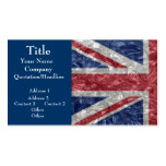 Union Jack - Crinkled Business Cards