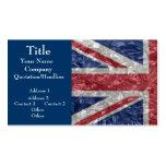 Union Jack - Crinkled Business Cards