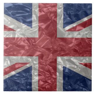 Union Jack - Crinkled Ceramic Tile