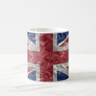 Union Jack - Crinkled Classic White Coffee Mug