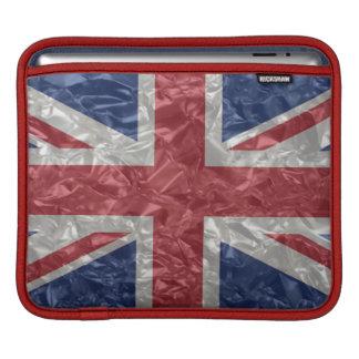 Union Jack - Crinkled Sleeve For iPads