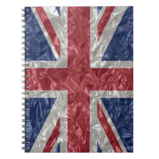 Union Jack - Crinkled Notebook