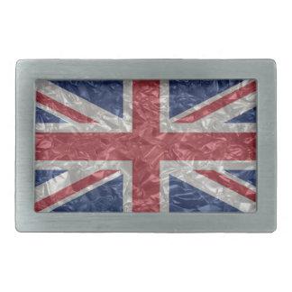 Union Jack - Crinkled Rectangular Belt Buckle