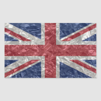 Union Jack - Crinkled Rectangular Sticker