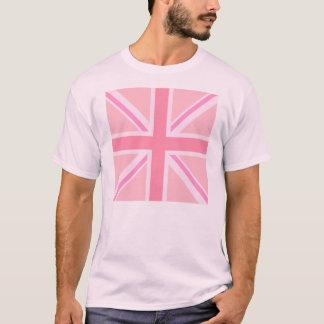 Union Jack cuadrado rosado/bandera Playera