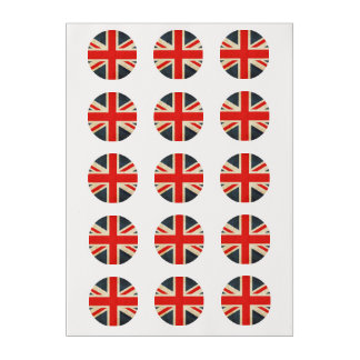 Union Jack Custom Cupcake Frosting Rounds