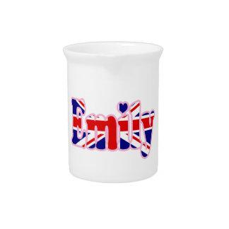 Union Jack cutout Emily Drink Pitchers