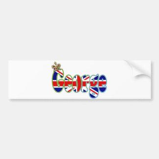 Union Jack cutout George Bumper Sticker