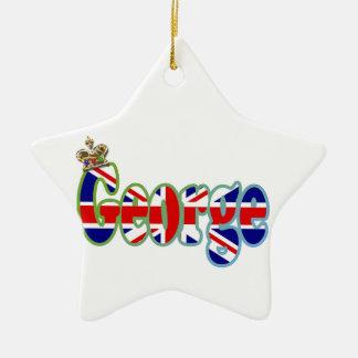 Union Jack cutout George Ceramic Ornament