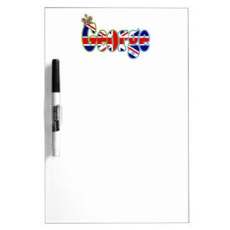 Union Jack cutout George Dry-Erase Board