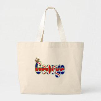 Union Jack cutout George Large Tote Bag