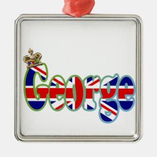 Union Jack cutout George Metal Ornament