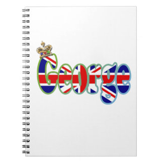 Union Jack cutout George Spiral Notebook