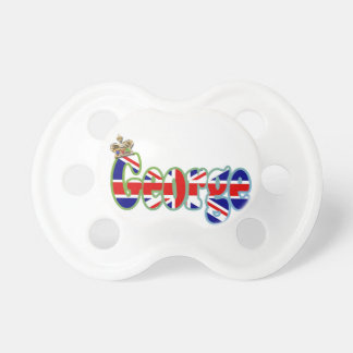 Union Jack cutout George Baby Pacifier