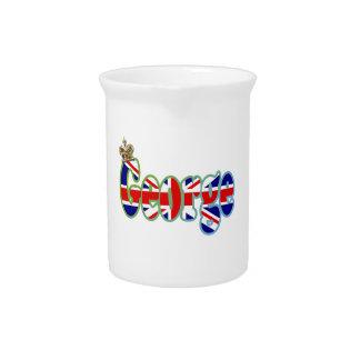 Union Jack cutout George Drink Pitcher