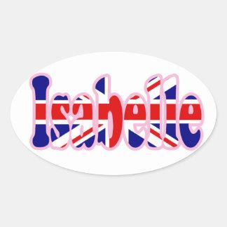 Union Jack cutout Isabelle Oval Sticker