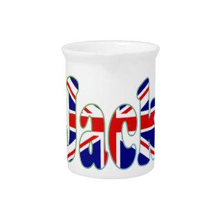 Union Jack cutout Jack Drink Pitcher