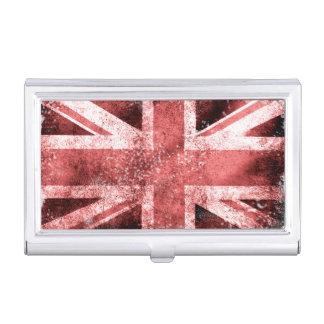 Union Jack del estilo del vintage de Destressed Cajas De Tarjetas De Presentación