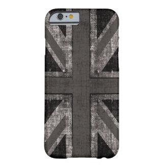 Union Jack del grunge - blanco y negro Funda De iPhone 6 Barely There