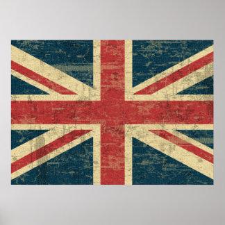 Union Jack descolorado Póster