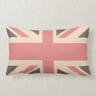 Union Jack - Designer Soft Faded Lumbar Pillow