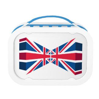 Union Jack doble, bandera británica en 3D