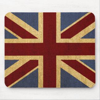 Union Jack elegante rústico Tapete De Raton