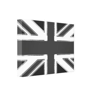Union Jack en el cromo - Reino Unido Lienzo Envuelto Para Galerias