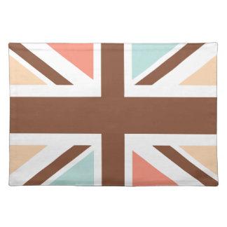 Union Jack - en el diseñador Brown Mantel Individual