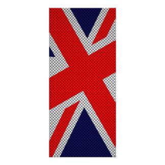 Union Jack en la impresión del estilo de la fibra Lona