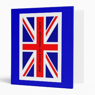 Union Jack  English flag British flag UK pom 3 Ring Binder