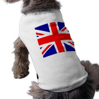 Union Jack  English flag British flag UK pom Pet Tshirt