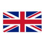 Union Jack Etiquetas De Envío