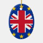 Union Jack - EU Flag Ceramic Ornament