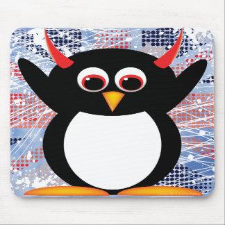Union Jack Evil Penguin Mousepad