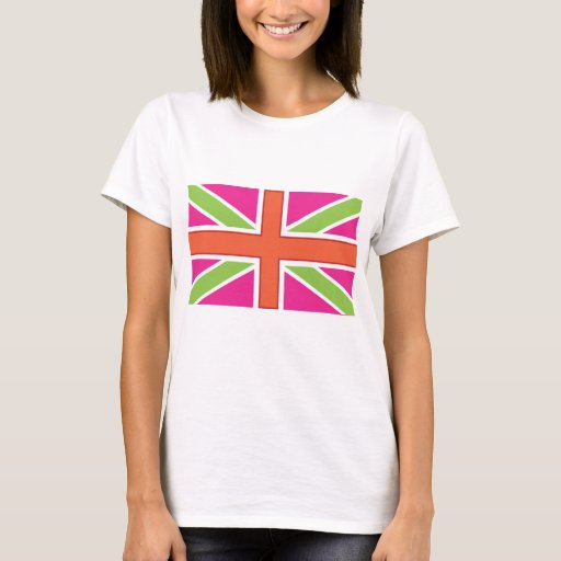 Union Jack Fitted Womens Tee Shirt Zazzle