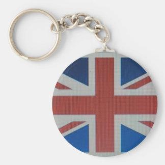 Union Jack Flag Basic Round Button Keychain