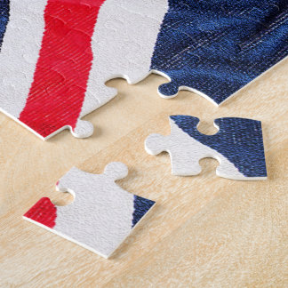 Union Jack, Flag, Blue, Nation Proud USA America Jigsaw Puzzle