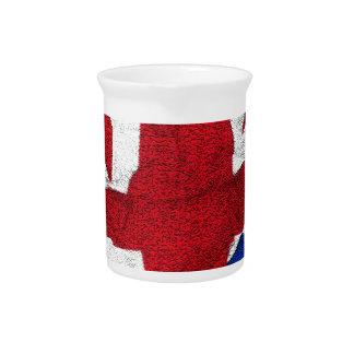 Union Jack, Flag, Blue, Nation Proud USA America S Pitcher