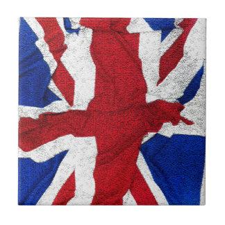 Union Jack, Flag, Blue, Nation Proud USA America S Small Square Tile