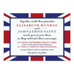 Union Jack Flag British Wedding Card