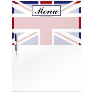 Union Jack Flag British Wedding Menu Dry-Erase Board